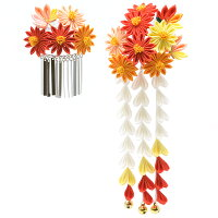 菊と紅葉のかんざしセット
