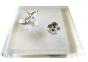 アコヤ真珠パールチワワタックピンブローチSVシルバー6.5-7.0mmホワイト