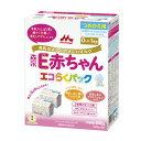 森永 粉ミルク ペプチドミルク E赤ちゃんエコらくパック つめかえ用800g(400g×2袋)