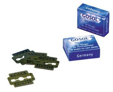 ペディコーンカッター(魚の目切)用の替刃だけ10枚入2個 ゾーリンゲン製造元メーカー GOESOL(ドイツ)【送料無料】 即納