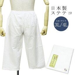 ステテコ 男 メンズ 大きいサイズ すててこ 日本製 綿 洗える(3L/4Lサイズ 白) 着物 パンツ メンズ着物 洗えるインナー 紳士 インナー 肌着 はだぎ おおきい ビッグサイズ wku お取寄せ