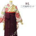 袴セット HLアッシュエル 二尺袖着物と刺繍袴 卒業式セット...