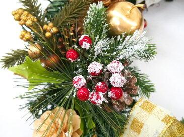 クリスマスリース50cm ツル枝ゴールド【玄関/高級/おしゃれ/国内生産】