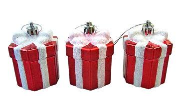 クリスマスギフトボックスオーナメント3個セット【クリスマスツリー飾り/クリスマスオーナメント】