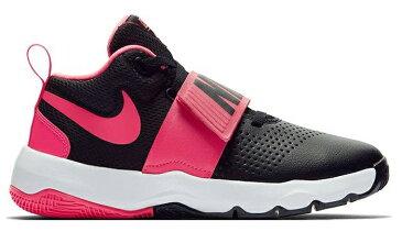 ナイキ Nike ジュニア、キッズ ナイキ チームハッスルD 8 GS 18SP バスケットボールシューズ 881941-002 (ブラック/レーサーピンク/ホワイト)