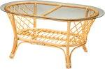 高級ラタンガラステーブル1372/Table【送料無料】強化ガラス厚み10mm輸入家具ラタンテーブルアウトレットテーブルリビングダイニング客間応接室<<セール品の為、返品・交換不可>>