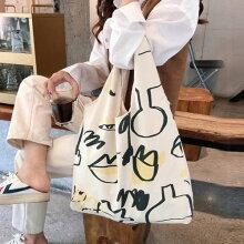 【送料無料】プリントキャンバスバッグレディース大容量エコバッグトートバッグ無地折りたたみ