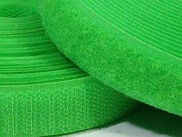 幅20mm長さ2M強力オスフックメスループのセット縫製タイプベルクロバンド面ファスナーバンドネオングリーン_2