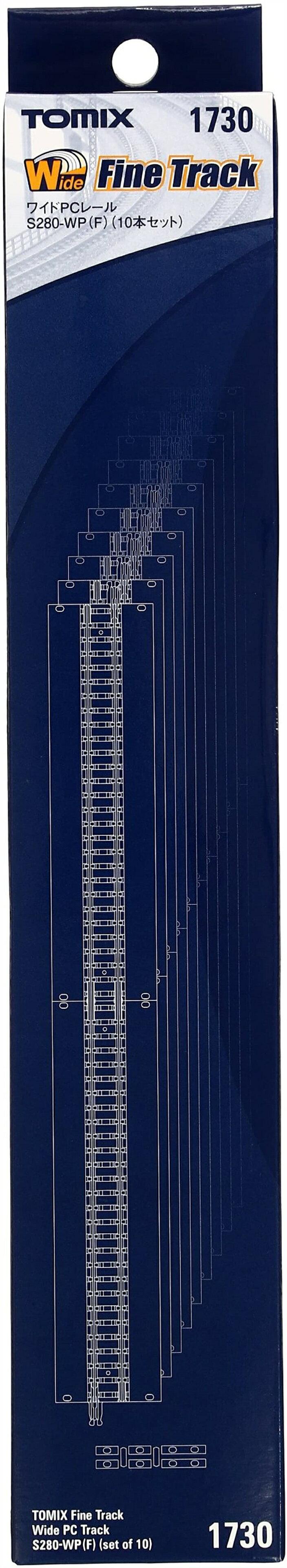 TOMIX Nゲージ ワイドPCレール S280-WP F 10本セット 1730 鉄道模型用品