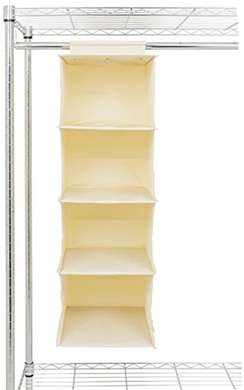 ルミナス メタルラック ハンガーラック用 収納ボックス4段 アイボリー 幅30×奥行35×高さ88cm LH4-IV(クリーム)