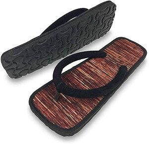 超軽量 雪駄 イ草 カジュアル 草履 サンダル ぞうり 履物 メンズ 27.0〜27.5cm ブラウン(3.ブラウン, 27.0〜27.5 cm)