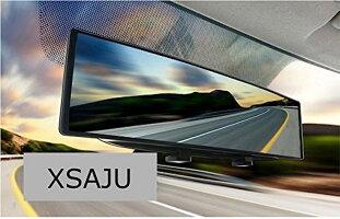 ルームミラー車用視野拡大曲面鏡クローム240mmブラックフレーム_1