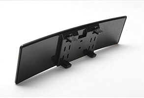 ルームミラー車用視野拡大曲面鏡クローム240mmブラックフレーム_2