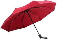 折りたたみ傘 雨 日傘 ワンタッチ開閉 コンパクト 軽量(赤)