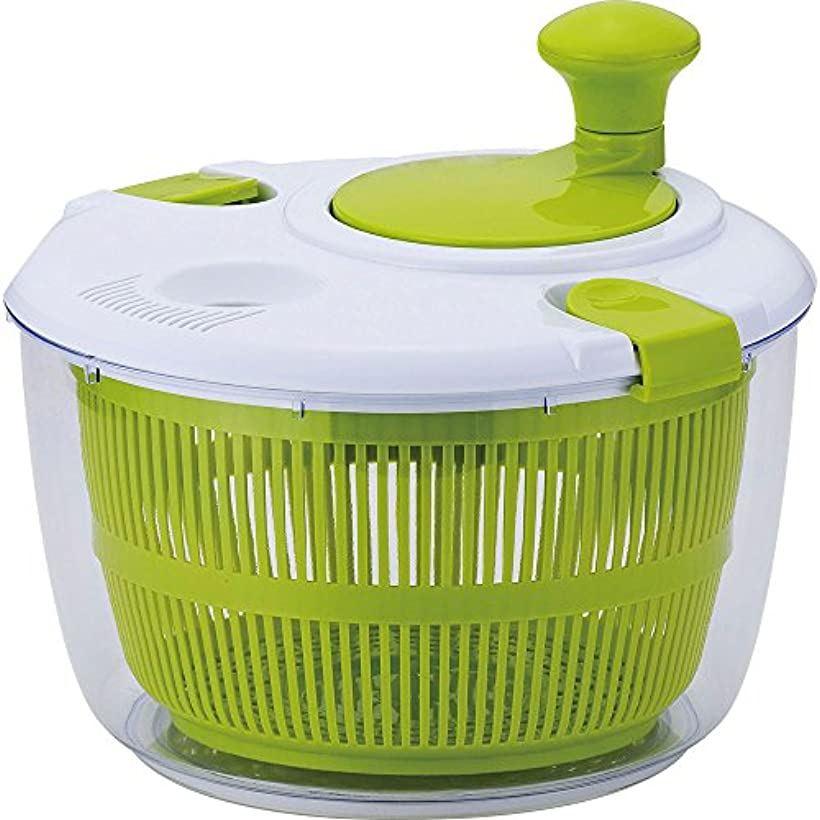 サラダスピナー 野菜水切り器 ジー・クック[GC-141](ホワイト, 24cm)