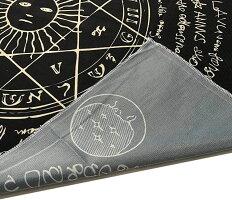 大判タロットクロス95cmタロット占いタペストリー猫ホロスコープ占星術BLACK-2_4