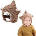 キッズ ニット帽 ベビー 赤ちゃん 帽子 耳付き 可愛い あったか 防寒 子供用(カーキ)