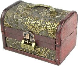 ジュエリーボックス コスメ メイクボックス 小物入れ 化粧品 木製 アンティーク調 ケース 宝石箱 収納箱 アクセサリー インテリア ビンテージ J110 MDM(Fタイプ)
