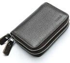 父の日 贈り物 カードケース メンズ 小銭入れ 本革 コインケース 財布 カード入れ スキミング防止 クレジットカードケース レザー じゃばら 大容量 RFID(コーヒー)