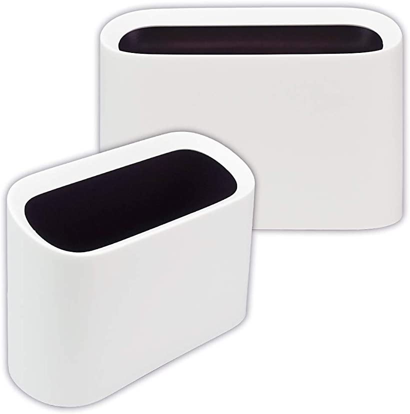 ルミエール・エタンセル ミニゴミ箱 セット ごみ入れ ダストボックス 卓上 車内 オフィス 分離 簡単 洗える 小物入れ 2個セット ホワイト(2個セット ホワイト)