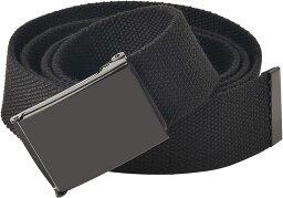 メンズ ベルト スライディング バックル 3.8x115cm ユニセックス キャンバス スライドバックル 調節可能 通気性(ブラック-フリップトップ, 115cm (45''))