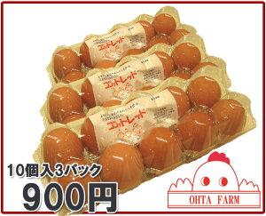 ふんわりした玉子焼きを作るにはこのたまごがお勧め【ココットレッド30個 (10個入り×3パック...