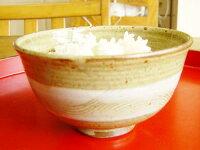 食べやすさがウリ♪白帯櫛目模様飯碗(大)