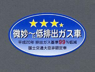 【メール便対応】東洋マーク キャラクター&パロディ 微妙に低排出ガス車 パッケージサイズ 115×60(mm) 3344