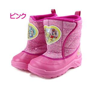 (プリンセスプリキュア)防寒ブーツスノーブーツキッズ子供女の子キャラクターブーツ防水(瞬足好きにもおススメ)着脱らくらく♪カップインソール付き裏地に防寒素材使用防滑ソール【C-687】02P03Sep16