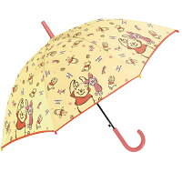送料無料 女の子 傘 キッズ 傘 女の子 55cm 傘 子供用 傘 かわいい ジャンプ 小学生 ディズニー プーさん