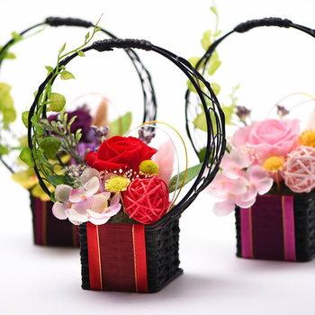 早割!敬老の日ギフト送料無料の選べる花とスイーツセットのプレゼント!ABプリザーブドフラワーAset6