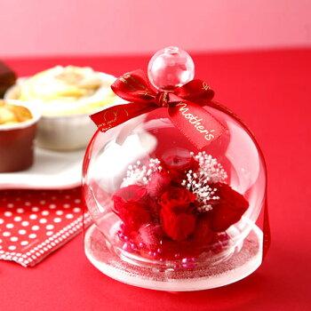 誕生日プレゼント送料無料クリスマスプレゼント!プリザーブドフラワーとスイーツセット花とお菓子お歳暮ギフトAA6