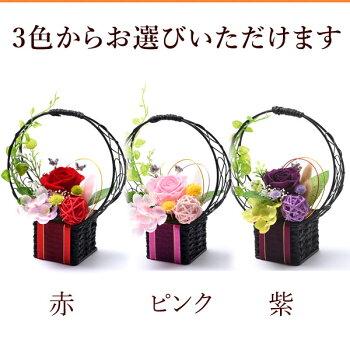 早割!敬老の日ギフト送料無料の選べる花とスイーツセットのプレゼント!ABプリザーブドフラワーDset7