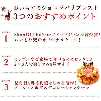 \早割!/クリスマスケーキ2020チョコレートケーキパリブレストチョコプレゼントスイーツお菓子ギフト4号【静岡AA】4