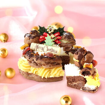 \早割!/クリスマスケーキ2020チョコレートケーキパリブレストチョコプレゼントスイーツお菓子ギフト4号【静岡AA】12