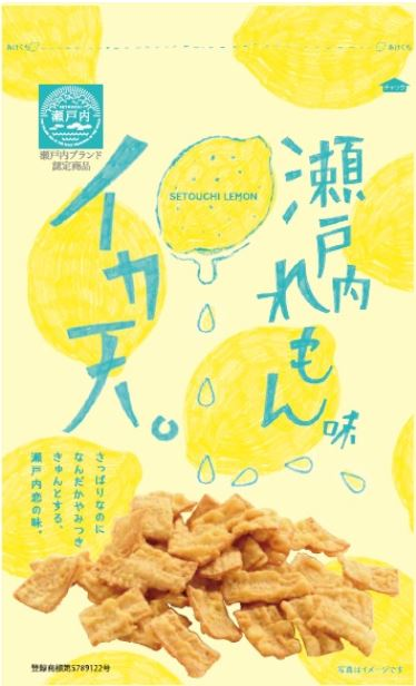 まるか食品【尾道】イカ天瀬戸内レモン味85g