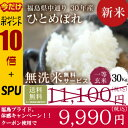 米 30Kg 送料無料 無洗米【福島県産 中通り ひとめぼれ...