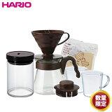 \2021年 初売り/ハリオ HARIO|お楽しみ コーヒー6点セット (OCS-4408)|送料無料 耐熱ガラス サーバー コーヒーポット<SS202012>