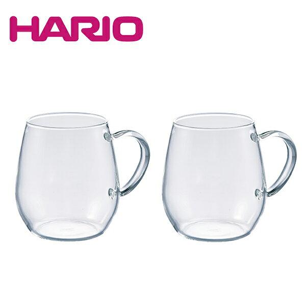 ハリオ HARIO ラウンドマグ2個セット RDM-1824(熱湯OK/電子レンジOK/食洗機OK)