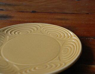 馬の目皿黄瀬戸6寸