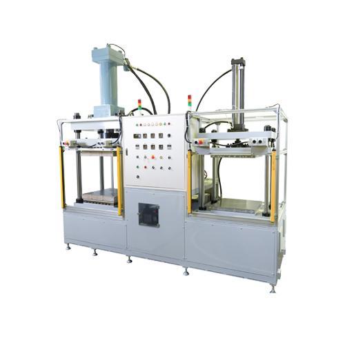 王子機械/油圧成形機/加熱冷却2連成形機/緑/AJE-50H-10C