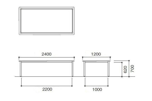 2400 1200 700mm bz 2412k. Black Bedroom Furniture Sets. Home Design Ideas