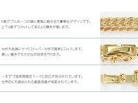 K18ゴールド6面ダブル喜平ブレスレット20cm30gイエローゴールドキヘイチェーン18金新品メンズレディース