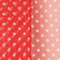 【カット売り】ポップな水玉模様オーガンジー♪♪アクアバルーン(KRD-896)【S10.赤×白】 k2