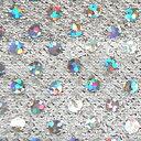 【カット売り】小さめスパンコールのニット生地♪スパンラメジャージミニ(818)【2-1.白×シルバ...