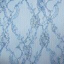 生地 クラシカルラメラッセルレース(873) 9.ロイヤルブルー/シルバー k2