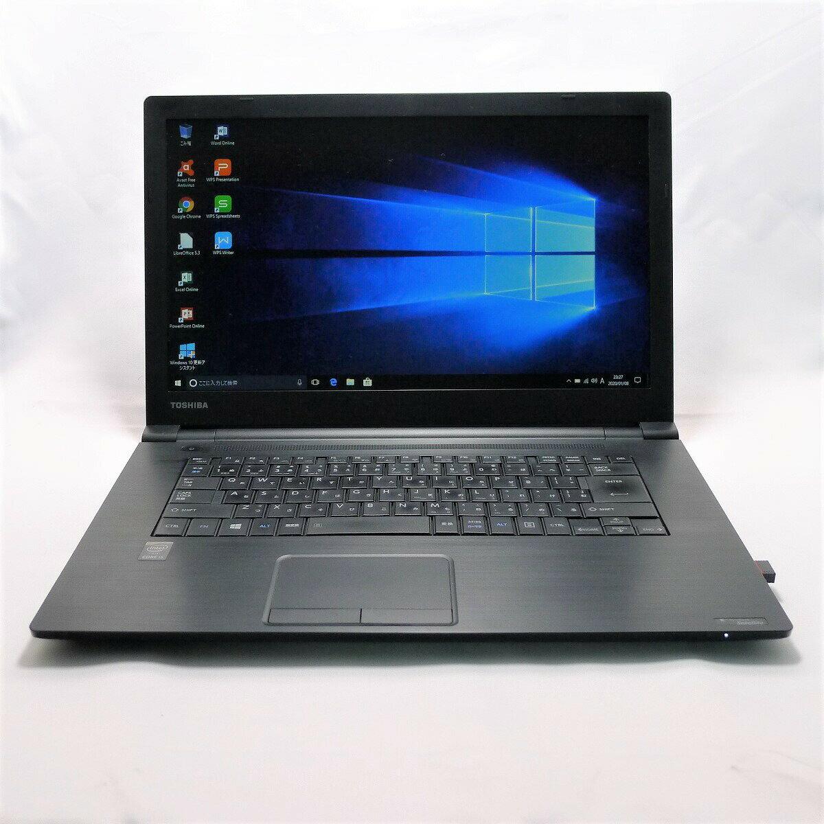 パソコン, ノートPC TOSHIBA dynabook Satellite B65 Core i5 8GB HDD320GB DVD-ROM LAN Windows10 64bitWPSOffice 15.6