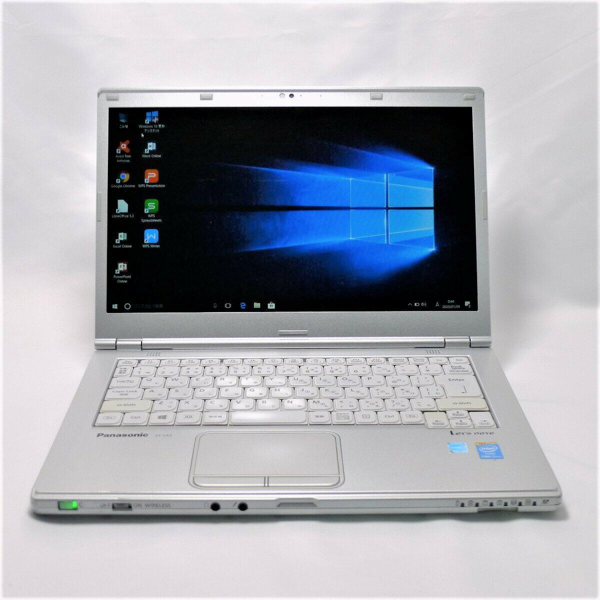 パソコン, ノートPC  Panasonic Lets note CF-LX3 Core i5 4GB SSD240GB LAN Windows10 64bitWPSOffice 14