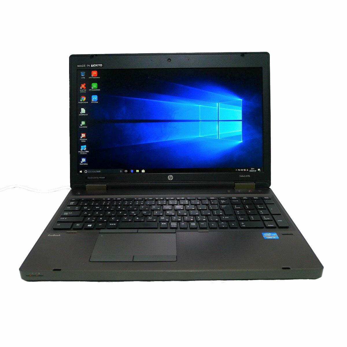 パソコン, ノートPC HP ProBook 6560bCore i7 4GB SSD960GB DVD-ROM HD LAN Windows10 64bitWPSOffice 15.6