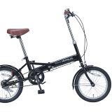 16インチ折畳自転車 M-101-BK ブラックMyPallas/マイパラス 【送料無料】折りたたみ自転車 16型 コンパクト